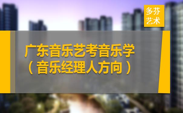 广东音乐艺考音乐学(音乐经理人方